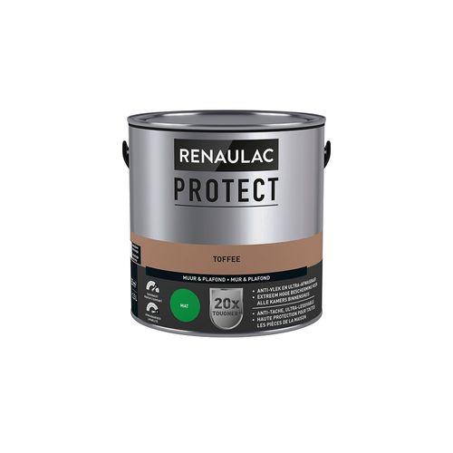 Peinture mur et plafond Renaulac Protect ultra couvrante toffee mat 2,5L