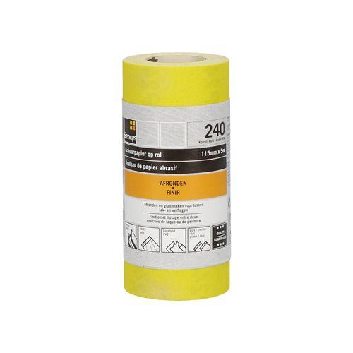 Sencys schuurrol geel A/O 115mm x 5m P240
