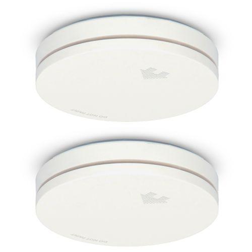 Alecto compacte design rookmelder wit 2st.