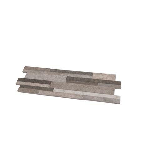 Wandbekledingspaneel in keramiek Stone zwart 17x52cm 1,15m²