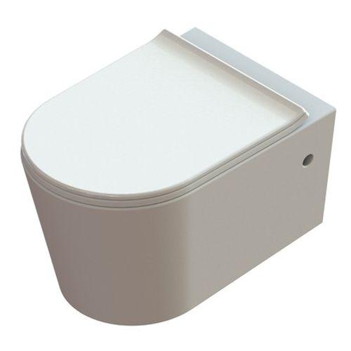 Van Marcke GO wandcloset pack Pureflow rimless met softclose & take-off design toiletzitting duroplast wit