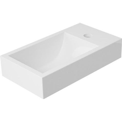 GO by Van Marcke handwasbakje Hugo rechthoekig 400x220x112mm mineraalcomposiet mat wit