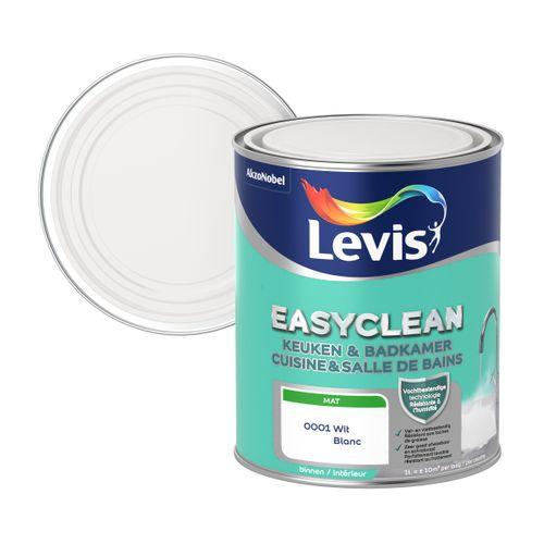 Levis Easyclean muurverf keuken&badkamer wit 1L