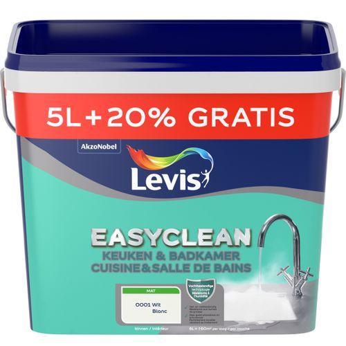 Levis Easyclean muurverf keuken&badkamer wit 5+1L