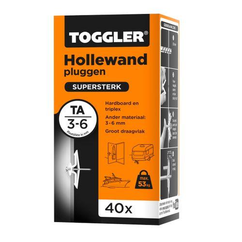 Toggler hollewandplug TA plaatdikte 3-6mm 40st.