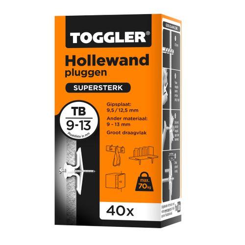 Toggler hollewandplug TB plaatdikte 9-13mm 40st.