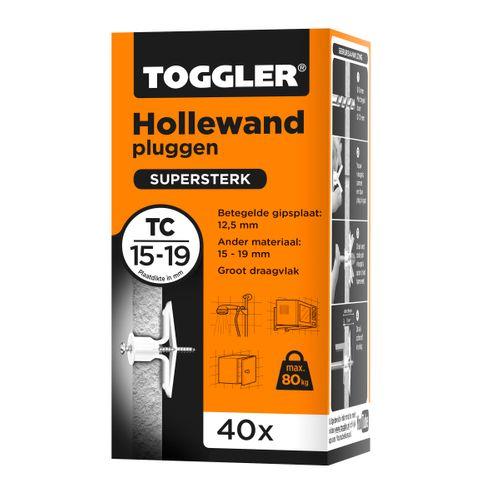 Toggler hollewandplug TC plaatdikte 15-19mm 40st.