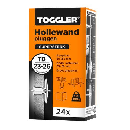 Toggler hollewandplug TD plaatdikte 23-26mm 24st.