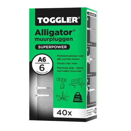Toggler Alligator muurplug A6 Ø6mm 40st.