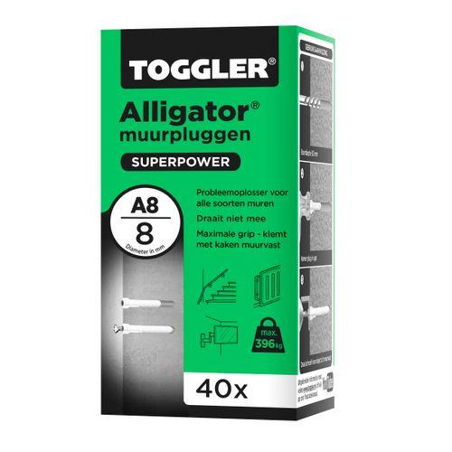 Toggler Alligator muurplug A8 Ø8mm 40st.