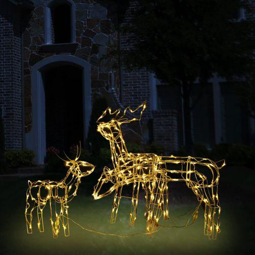 VidaXL 3-delige Kerstverlichting rendieren 229 LED's