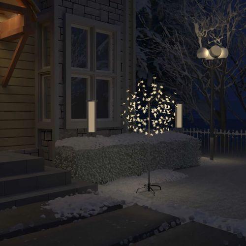 VidaXL Kerstboom 120 LED's warm wit licht kersenbloesem 150 cm