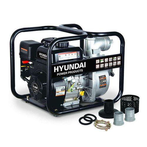Hyundai waterpomp benzine 196cc/6.5pk zwart