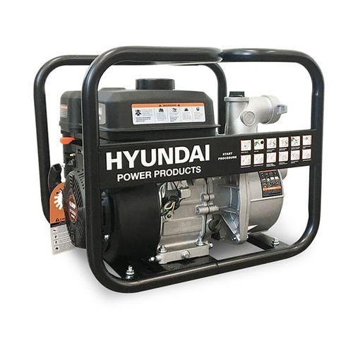 Hyundai waterpomp benzine 196cc/6.5pk chemisch zwart