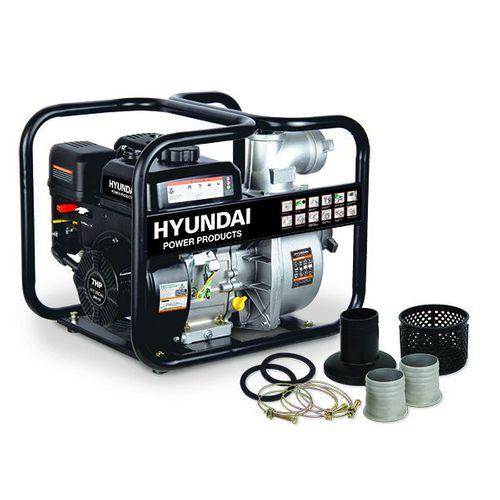 Hyundai waterpomp benzine 208cc/7pk zwart