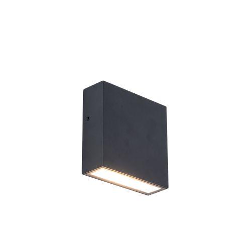 Lutec wandverlichting LED Gemini XF zwart 9,2W