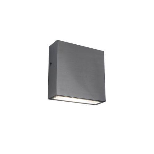 Lutec wandverlichting LED Gemini XF metaal rvs 9,2W
