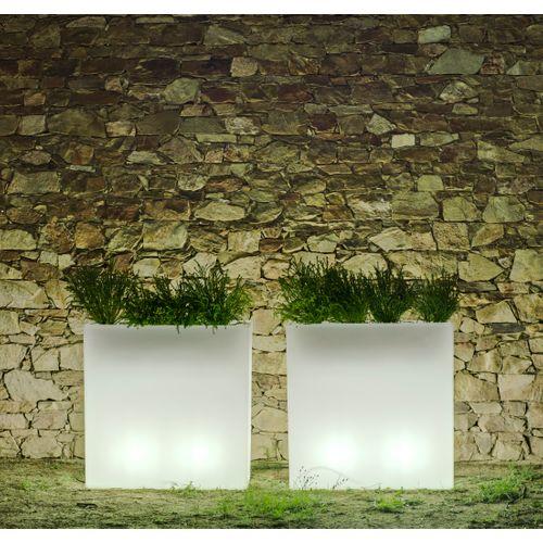 NewGarden bac à fleurs lumineux Junco 80 lumière blanche