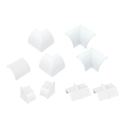 D-Line verbindingen set clip-over voor kabelgoot 22x22mm wit