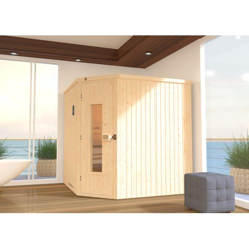 Weka sauna Varberg 3 HT, 7,5Kw BioS 194x194cm