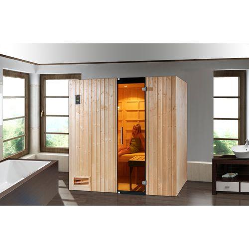 Weka Uppsala alles-in-1 sauna (IR, Fins en Stoombad) 121x212cm