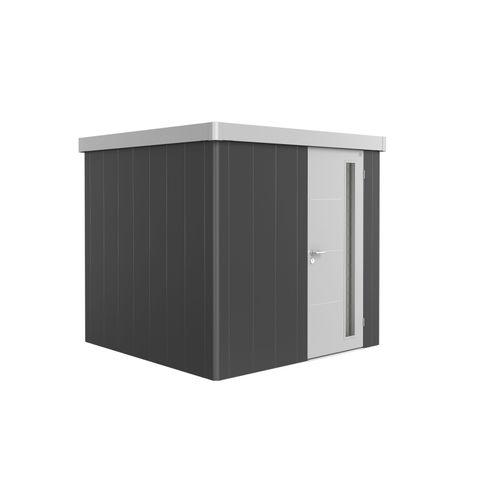 Biohort tuinhuis Neo V3.1 GR2 B + deur donkergrijs/zilver 236x236cm