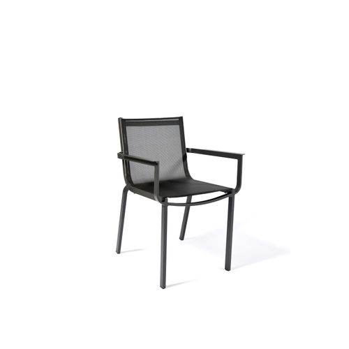Arcane stoel Horizon stapelbaar textileen aluminium