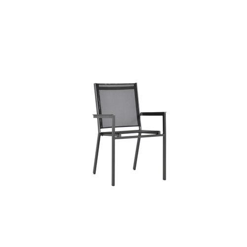 Chaise Arcane Sunrise empilable textilène aluminium