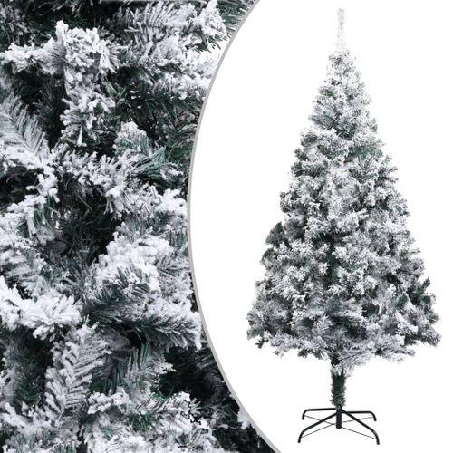 VidaXL Kunstkerstboom met sneeuwvlokken 240 cm PVC groen