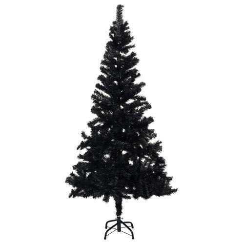 VidaXL Kunstkerstboom met standaard 150 cm PVC zwart
