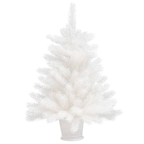 VidaXL Kunstkerstboom met pot 65 cm PE wit