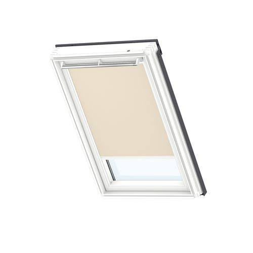 Store d'occultation manuel VELUX white line UK08 4556SWL beige