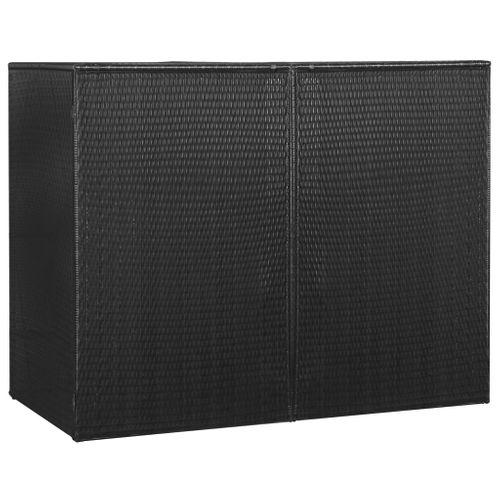 VidaXL containerberging dubbel 153x78x120cm zwart