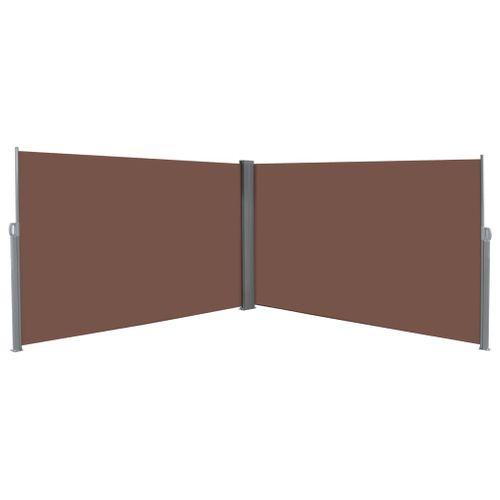 VidaXL windscherm uittrekbaar 180x600cm bruin