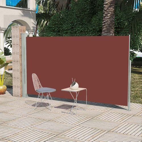 VidaXL zijluifel uittrekbaar 160x300cm bruin