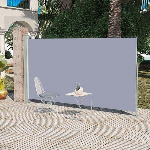 VidaXL zijluifel uittrekbaar 180x300cm grijs