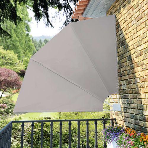 VidaXL balkonscherm inklapbaar 210x210cm crème