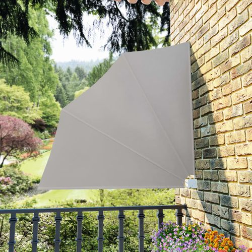 VidaXL balkonscherm inklapbaar 140x140cm crème