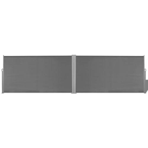 VidaXL windscherm uittrekbaar 160x600cm grijs