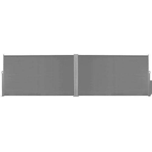 VidaXL windscherm uittrekbaar 180x600cm grijs