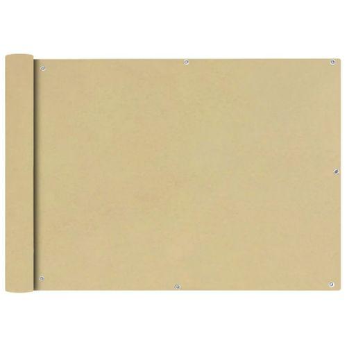 VidaXL balkonscherm Oxford textiel 75x600cm beige