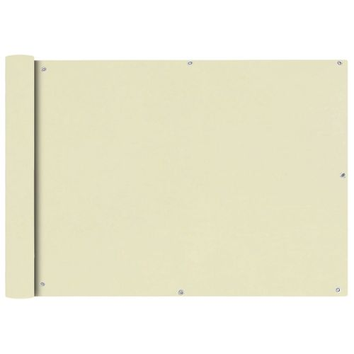 VidaXL balkonscherm Oxford textiel 75x400cm beige