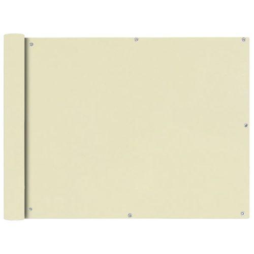VidaXL balkonscherm Oxford textiel 90x400cm beige