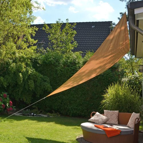 VidaXL HI zonnescherm driehoekig 3,6x3,6m beige