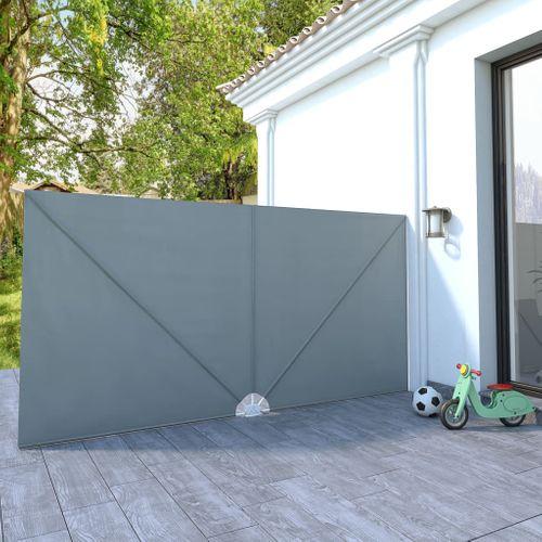 VidaXL tuinscherm inklapbaar 400x200cm grijs
