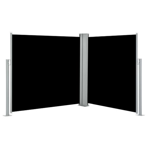 VidaXL windscherm uittrekbaar 120x600cm zwart