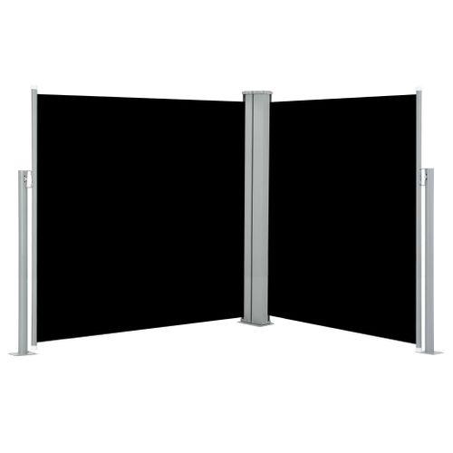 VidaXL windscherm uittrekbaar 140x600cm zwart