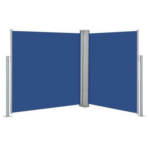 VidaXL windscherm uittrekbaar 140x600cm blauw