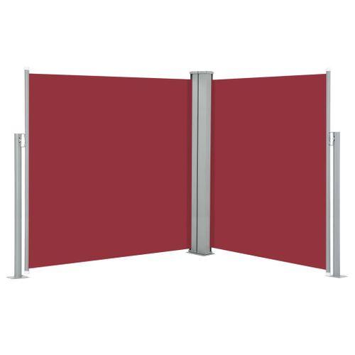 VidaXL windscherm uittrekbaar 140x600cm rood