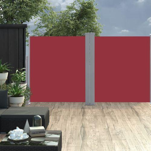 VidaXL windscherm uittrekbaar 170x600cm rood